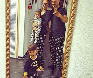 batman, family, and baby image