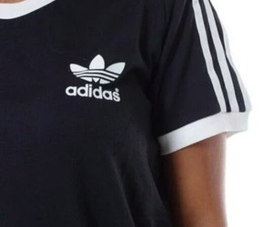 adidas, black, and black&white image
