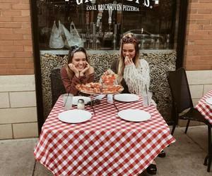 friendship, pizza, and tess&sarah image