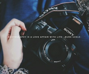camera, girl, and quote image