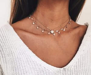 fashion, girl, and necklace image