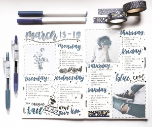 bj, bullet journal, and notebook image