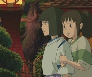 afraid, haku, and anime image
