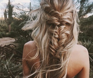 braid, gorgeous, and hairstyle image