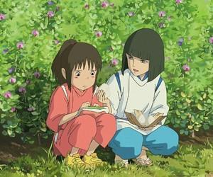 anime, flowers, and chihiro image
