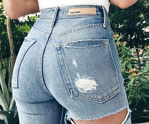 ass, luxurious, and ripped jeans image