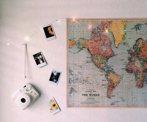 map, travel, and room image