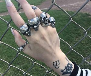 grunge, skull, and tattoo image