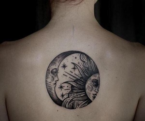 back, ink, and sun image