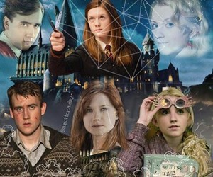 harry potter, luna lovegood, and silver trio image