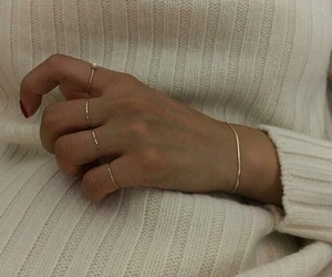rings, aesthetic, and gold image