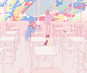 anime, kawaii, and classroom image