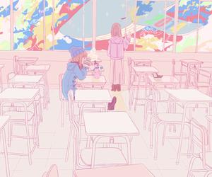 anime, kawaii, and classroom image