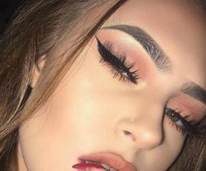eye makeup, tumblr instagram, and girly girl lady image