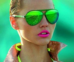 glasses, model, and lips image