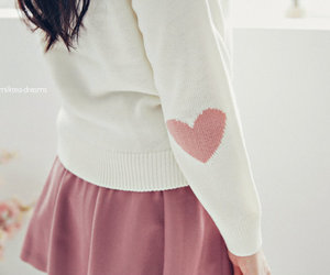 heart, pink, and skirt image