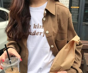 brown, coffee, and girl image