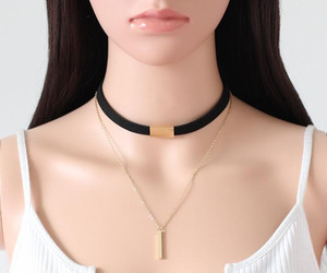chain, chokernecklace, and choker image