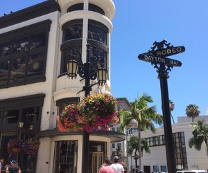 Beverly Hills, flowers, and la image