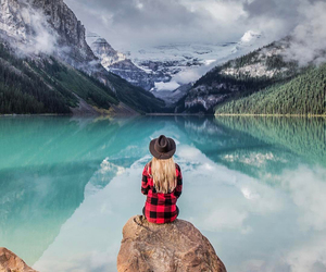 adventure, girl, and landscape image