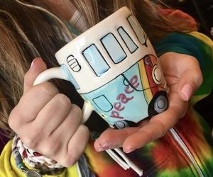 clothing, tie dye, and coffee image