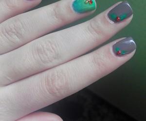 christmas, nail polish, and green image