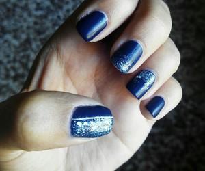 blue, blue glitter, and glitter image