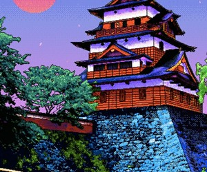 japan and pixel image
