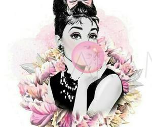 actress, audrey hepburn, and floral image