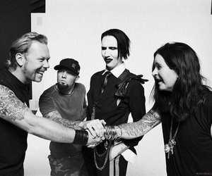 James Hetfield, limp bizkit, and Marilyn Manson image