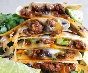food, cheese, and tacos image