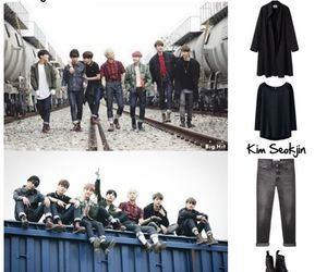 clothes, jin, and kpop image