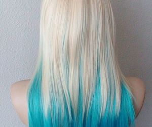 blonde wig, emo, and blonde ombre image