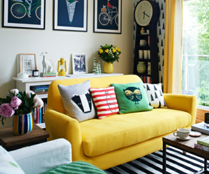 decoration, interior, and yellow image