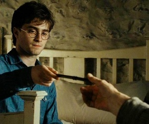 deathly hallows, harry potter, and scene image