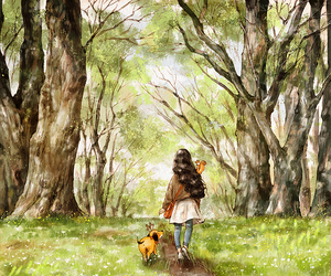 diary, forest, and dog image