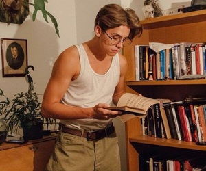 cole sprouse, boy, and book image