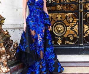 blue lace dress image