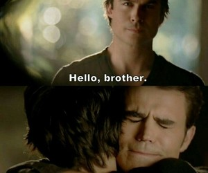 brothers, the vampire diaries, and stefan salvatore image