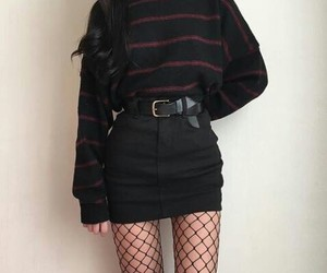 clothes, fashion, and goth image