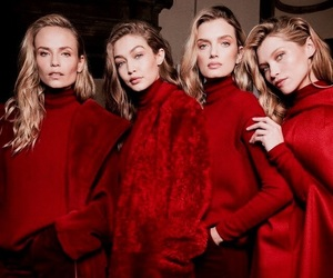 fashion, model, and red image