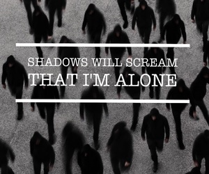 alone, Lyrics, and migraine image