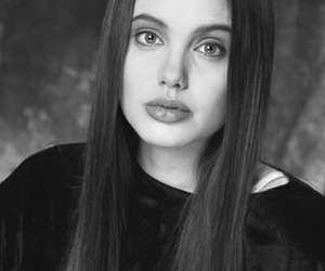 90's, Angelina Jolie, and black and white image
