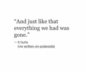 gone, lonely, and quote image