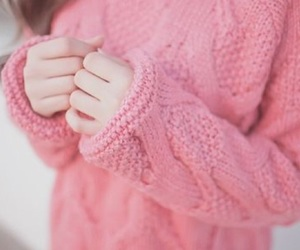 pink and sweater image