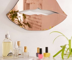 mirror, lips, and girly image