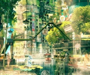 fantasy and anime city image