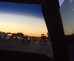 car window, highway, and photography image