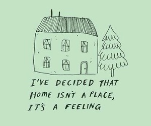home, quotes, and green image