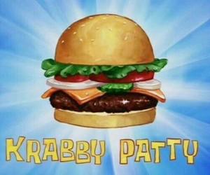 krabby patty, spongebob, and food image